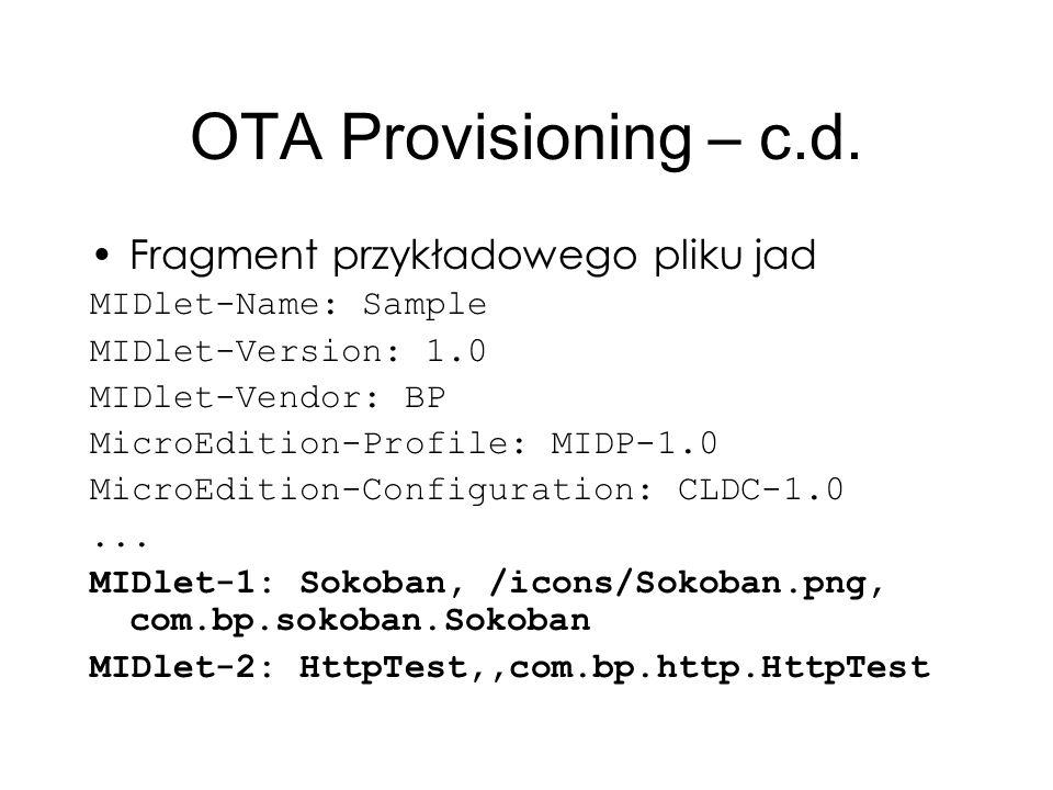 OTA Provisioning – c.d. Fragment przykładowego pliku jad