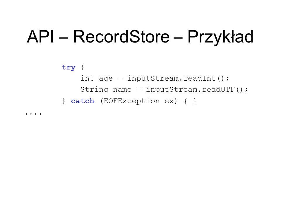 API – RecordStore – Przykład