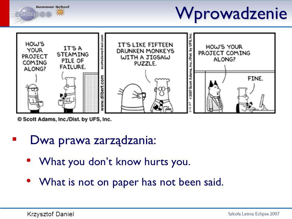 Wprowadzenie Dwa prawa zarządzania: What you don't know hurts you.