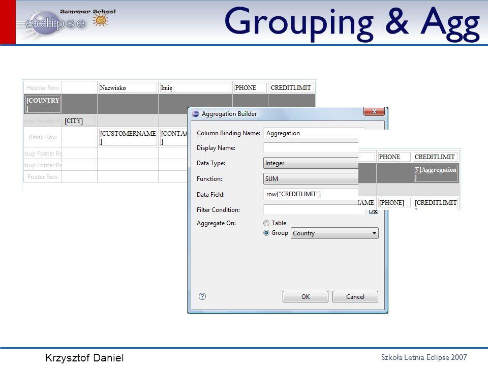 Grouping & Agg Agregacja z palety