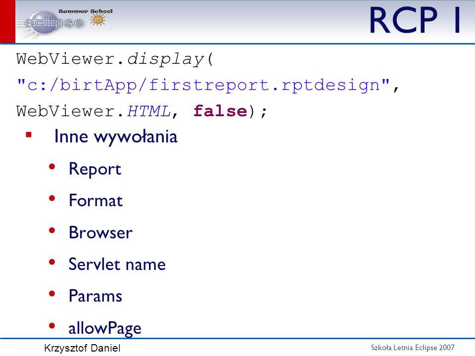 RCP 1 Inne wywołania WebViewer.display(