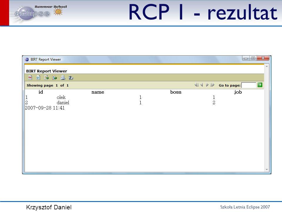 RCP 1 - rezultat