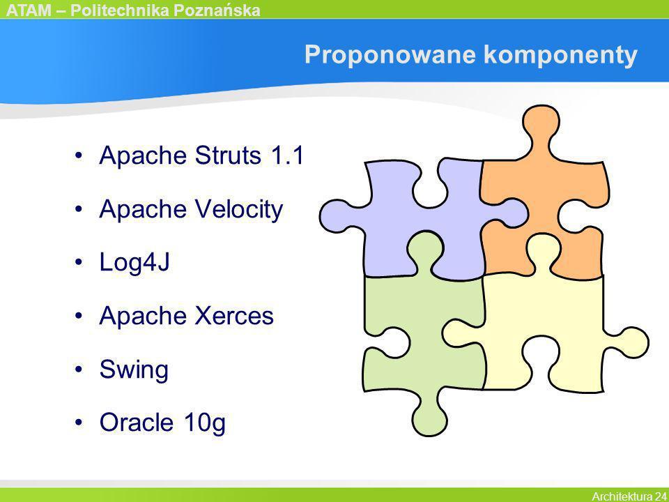 Proponowane komponenty