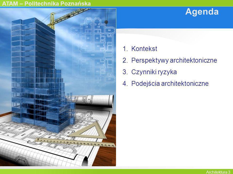 Agenda Kontekst Perspektywy architektoniczne Czynniki ryzyka