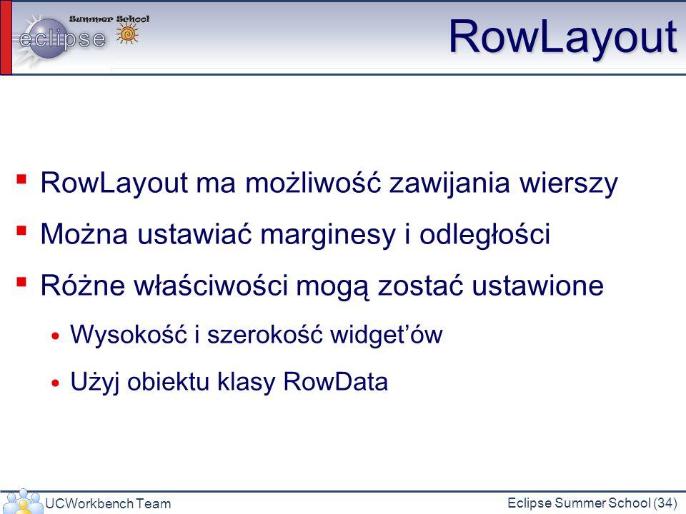 RowLayout RowLayout ma możliwość zawijania wierszy