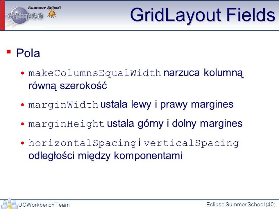 GridLayout Fields Pola