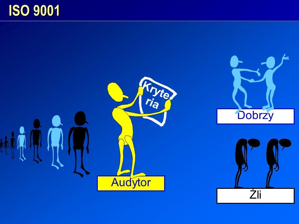 ISO 9001 Kryte- ria Dobrzy Źli Audytor