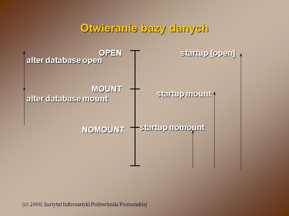 Otwieranie bazy danych