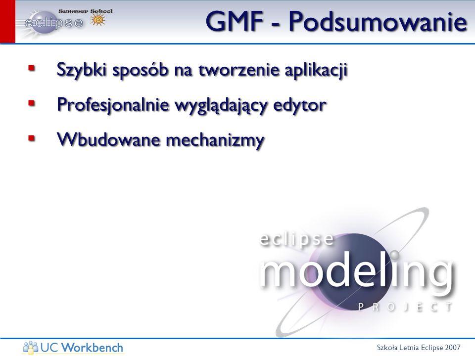 GMF - Podsumowanie Szybki sposób na tworzenie aplikacji