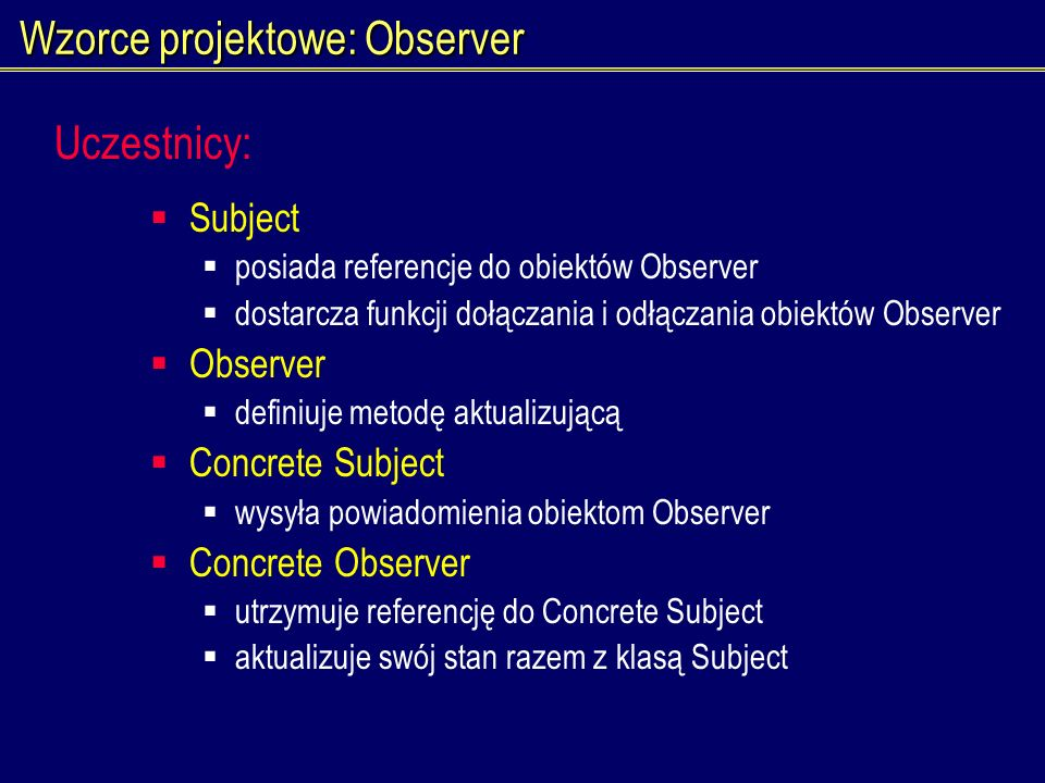 Wzorce projektowe: Observer