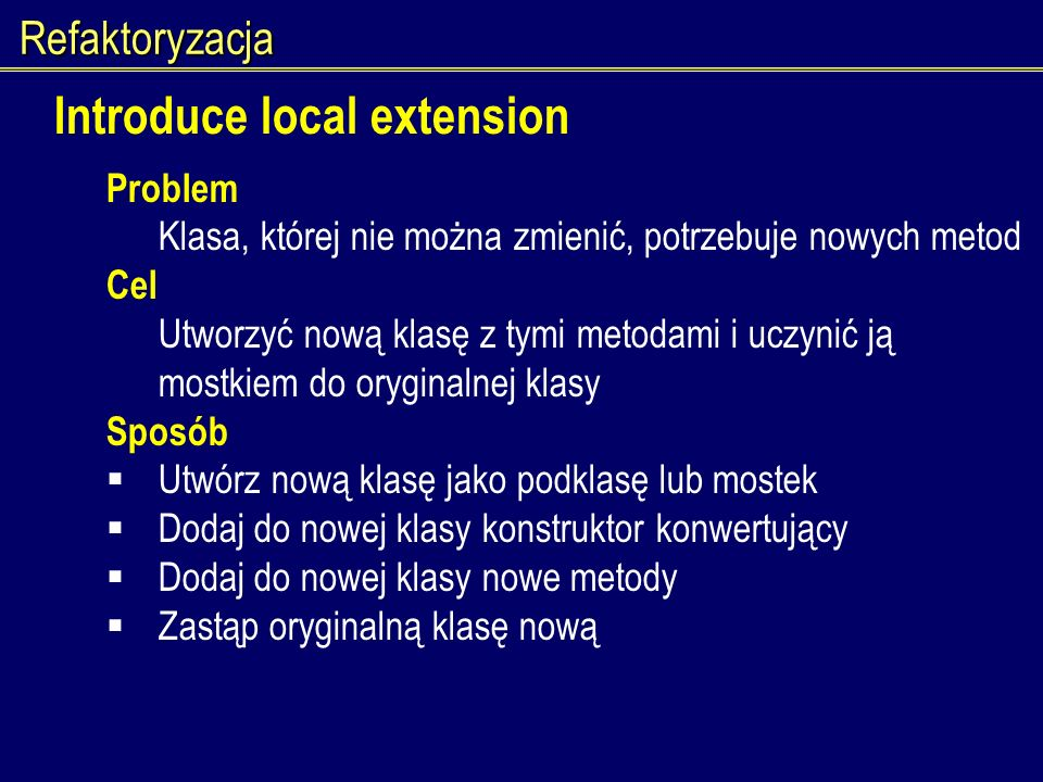 Introduce local extension