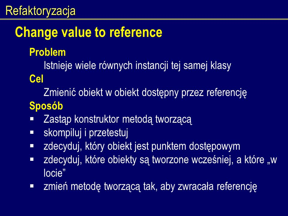 Change value to reference