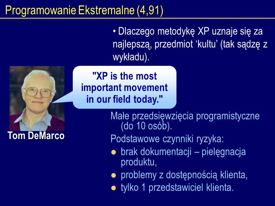 Programowanie Ekstremalne (4,91)