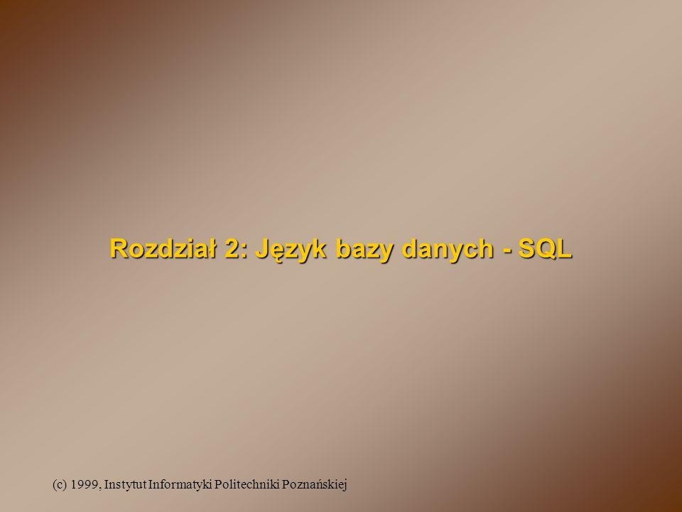 Rozdział 2: Język bazy danych - SQL