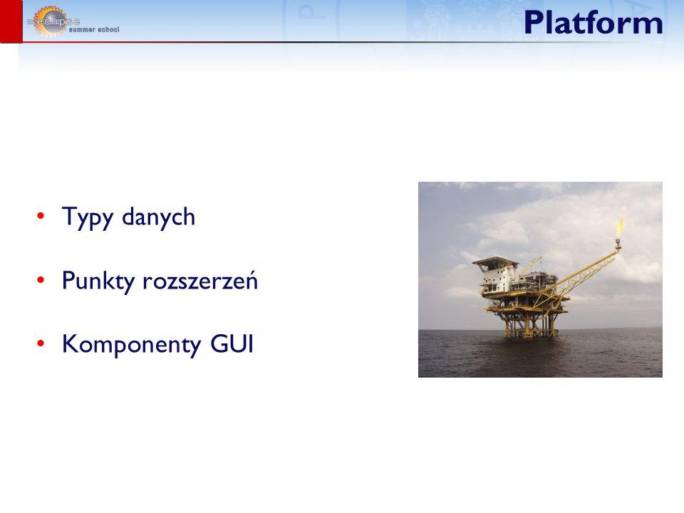 Platform Typy danych Punkty rozszerzeń Komponenty GUI