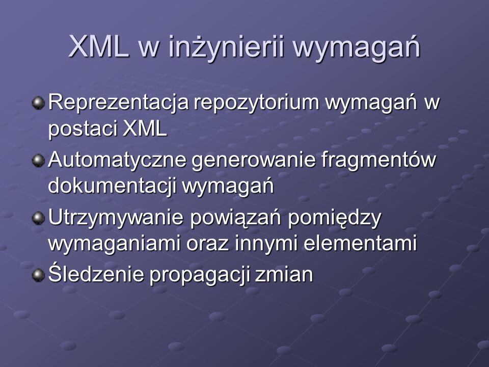 XML w inżynierii wymagań