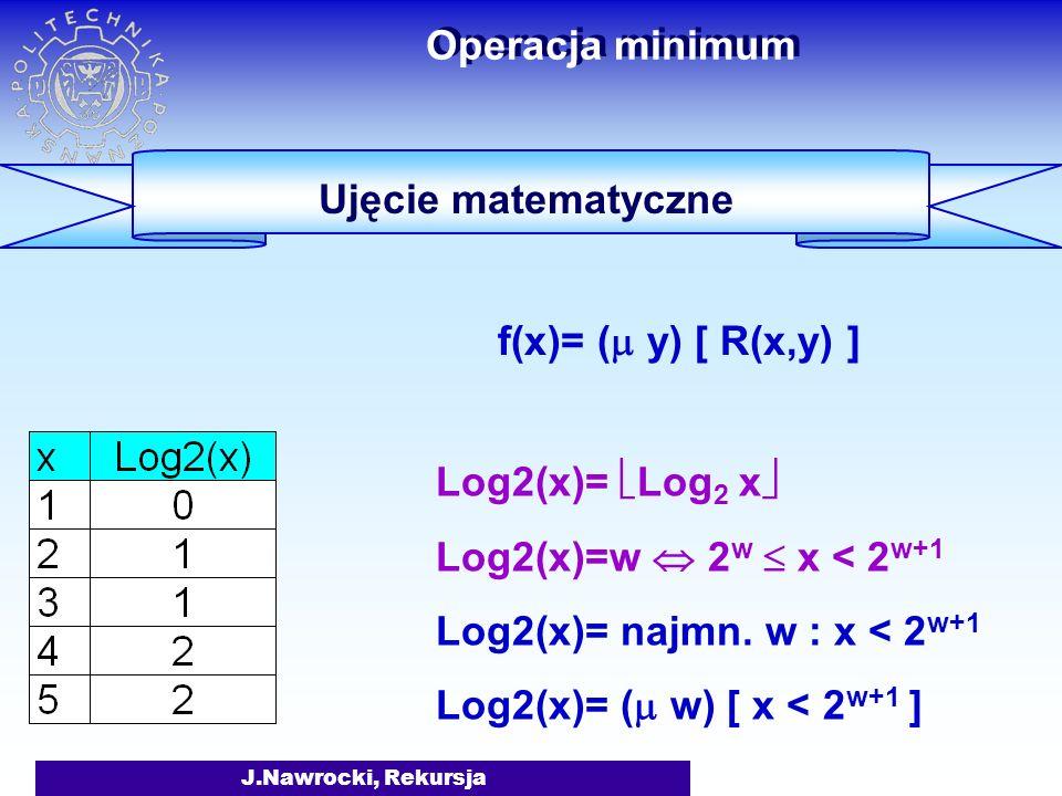 Operacja minimum Ujęcie matematyczne