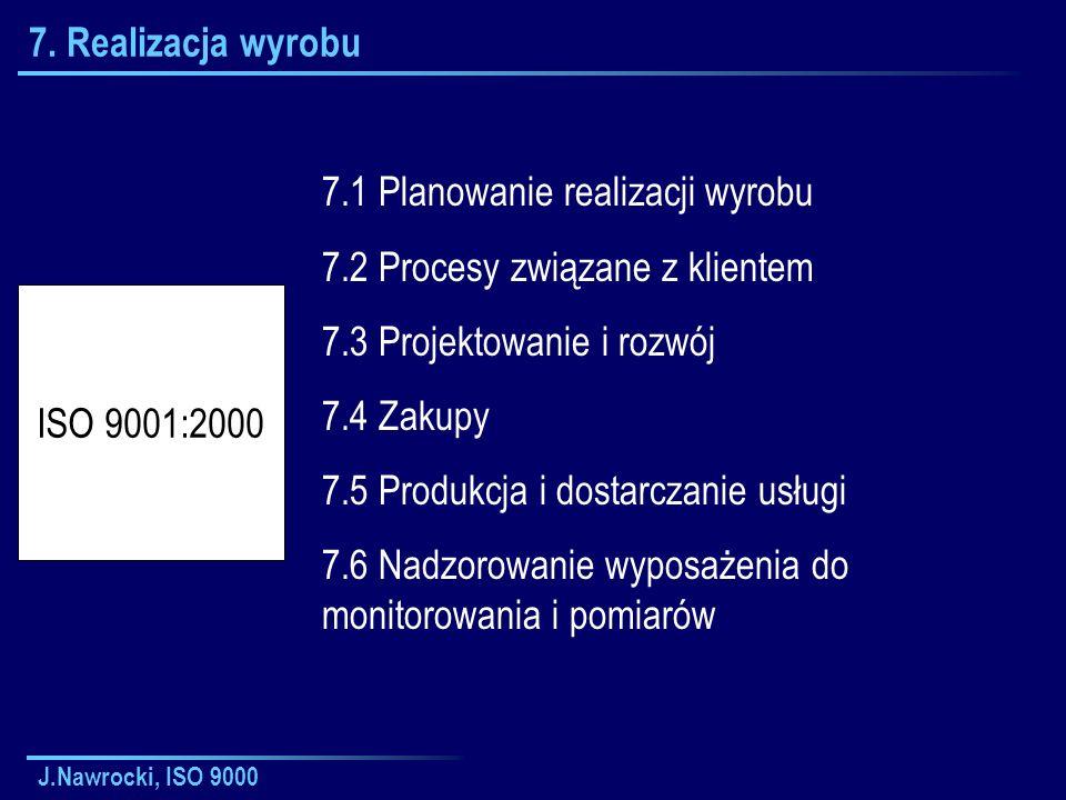 7.1 Planowanie realizacji wyrobu 7.2 Procesy związane z klientem