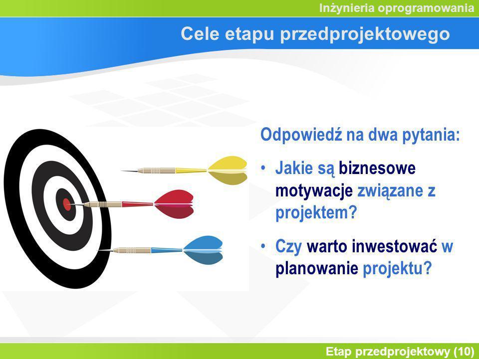 Cele etapu przedprojektowego
