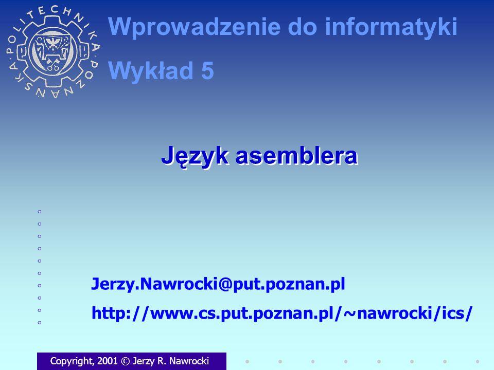 Wprowadzenie do informatyki Wykład 5