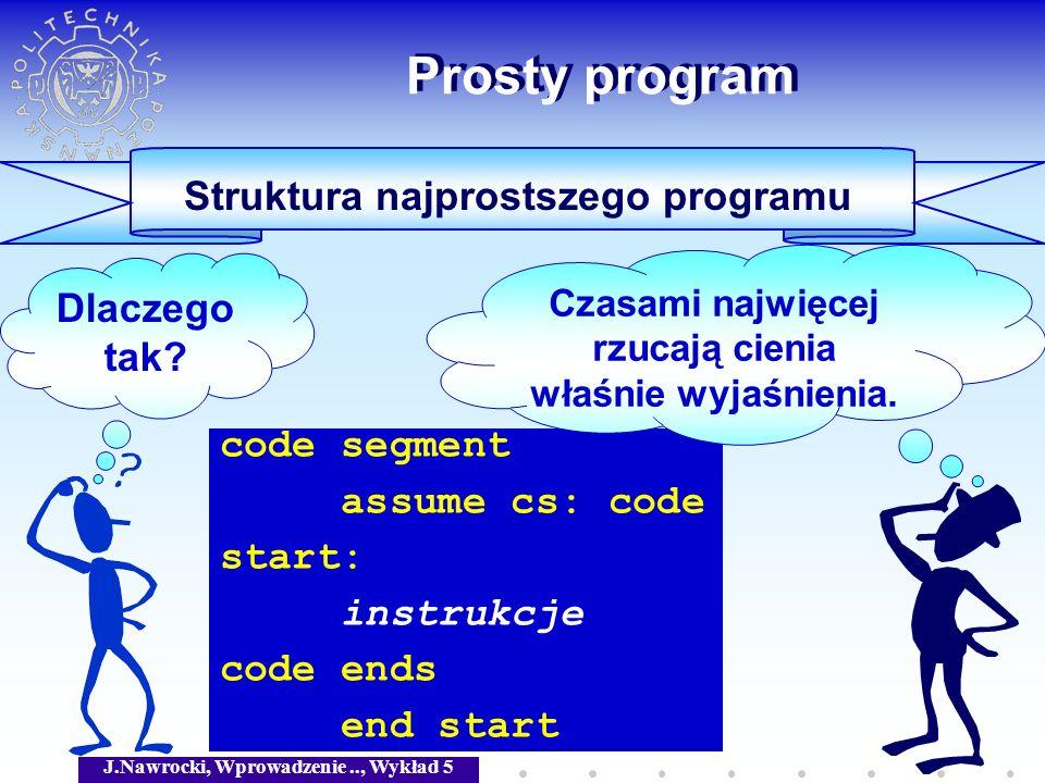Struktura najprostszego programu