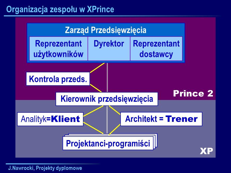 Organizacja zespołu w XPrince