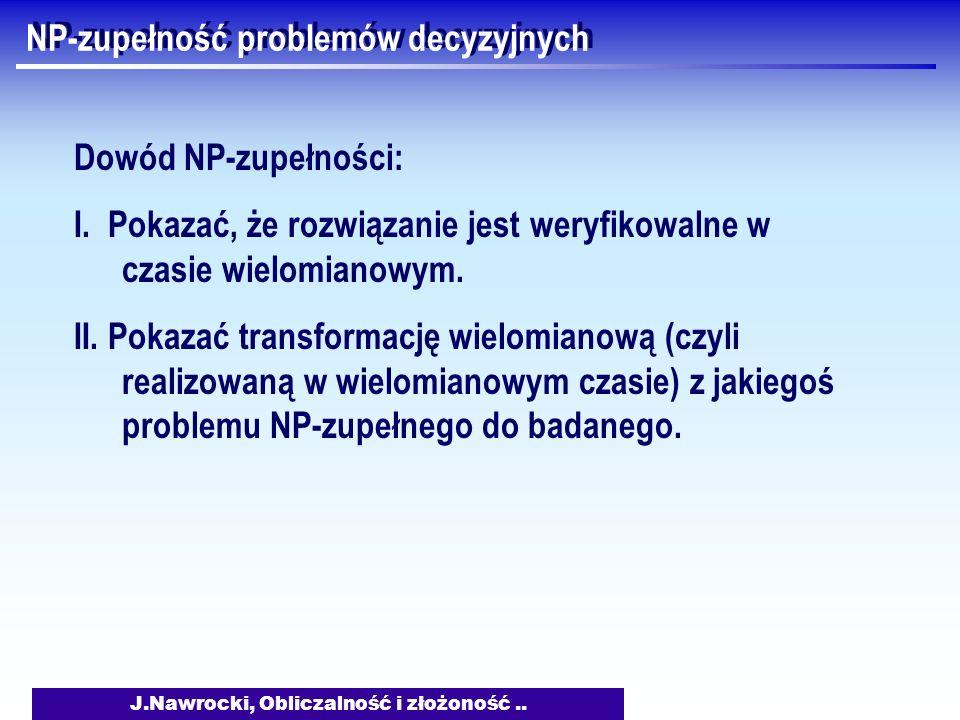 NP-zupełność problemów decyzyjnych