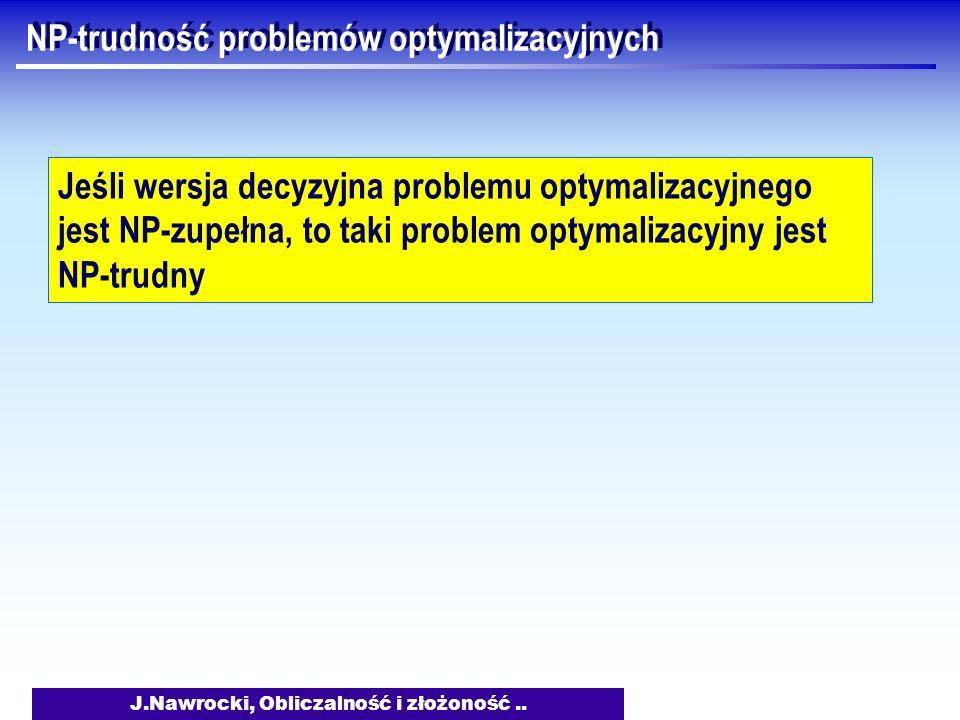 NP-trudność problemów optymalizacyjnych