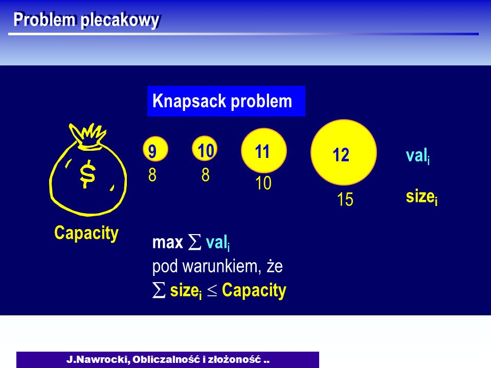 J.Nawrocki, Obliczalność i złożoność ..