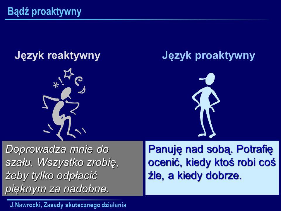 Bądź proaktywny Język reaktywny Język proaktywny