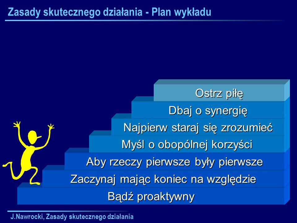 Zasady skutecznego działania - Plan wykładu