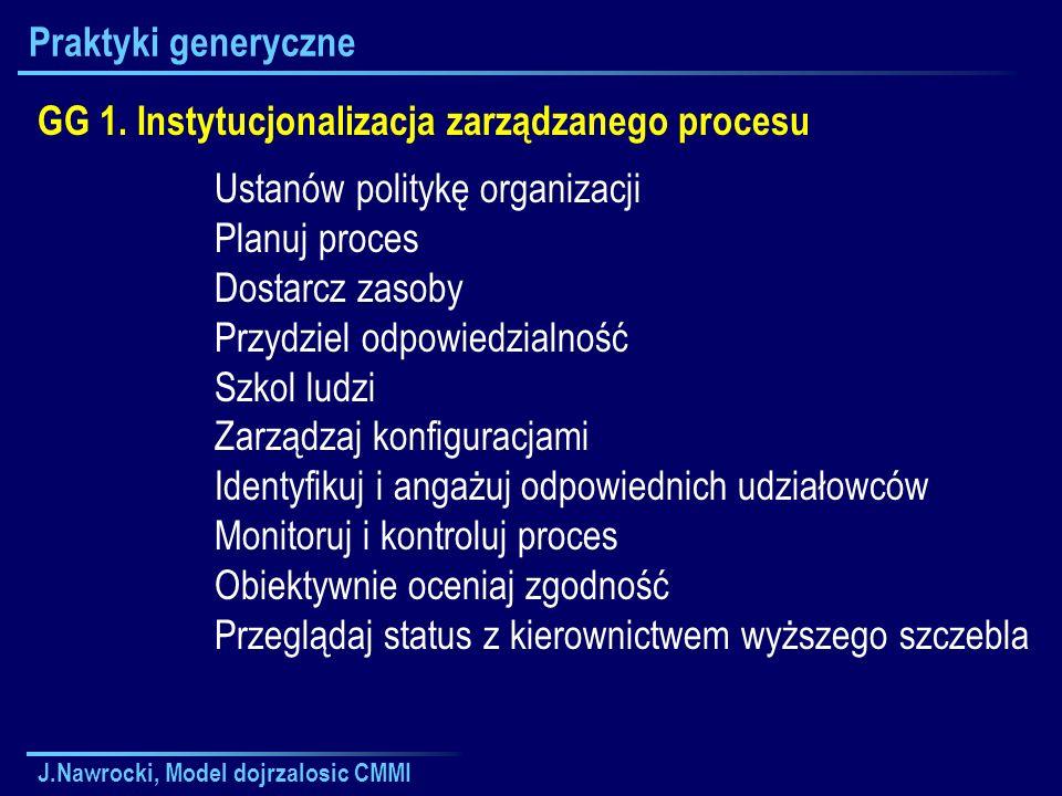 GG 1. Instytucjonalizacja zarządzanego procesu