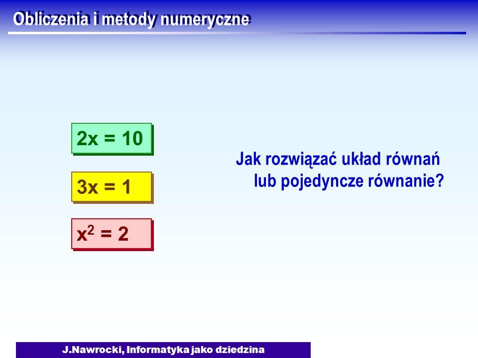 Obliczenia i metody numeryczne