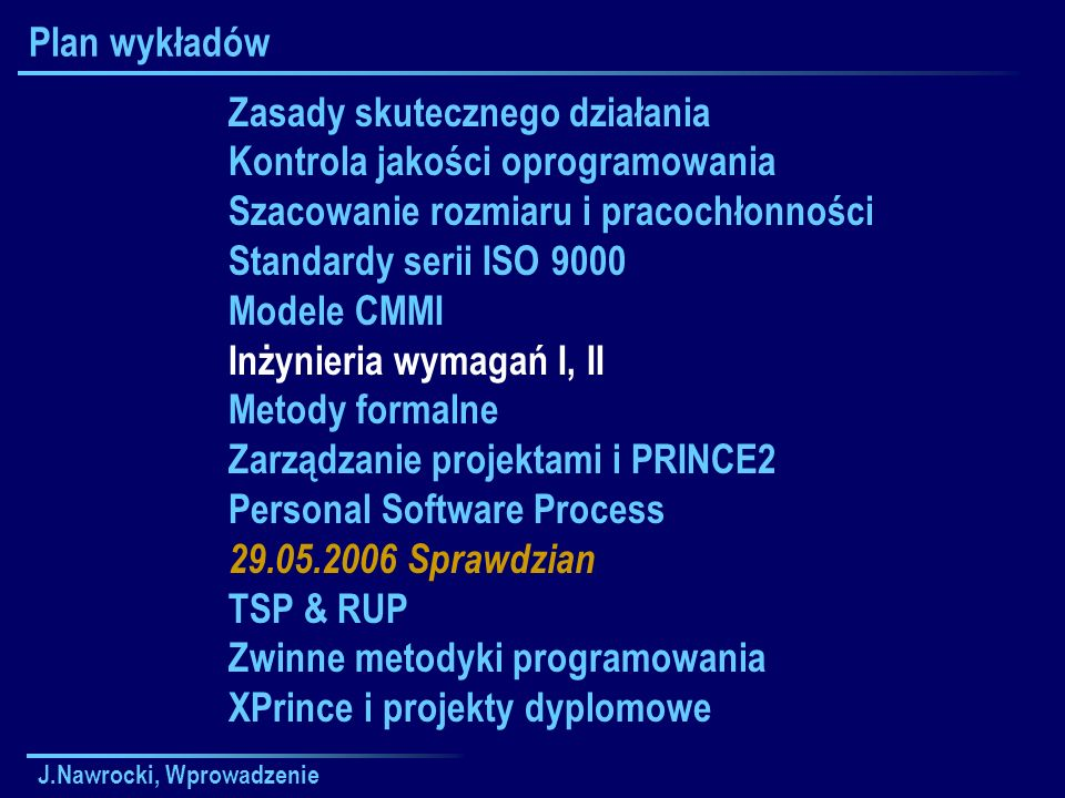 Zasady skutecznego działania Kontrola jakości oprogramowania