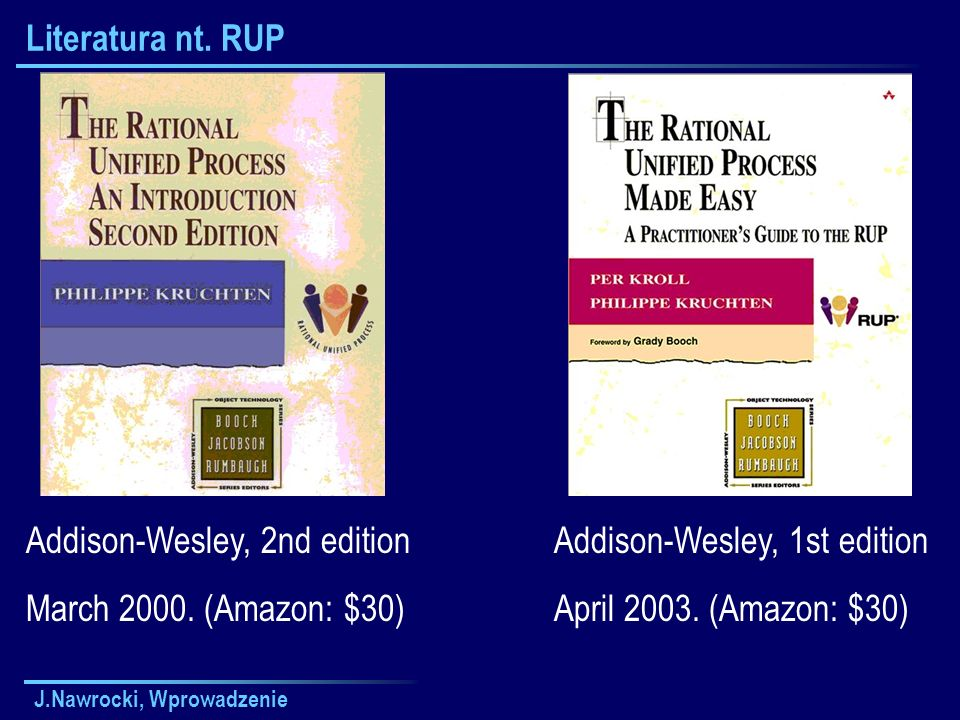 Addison-Wesley, 2nd edition March 2000. (Amazon: $30)