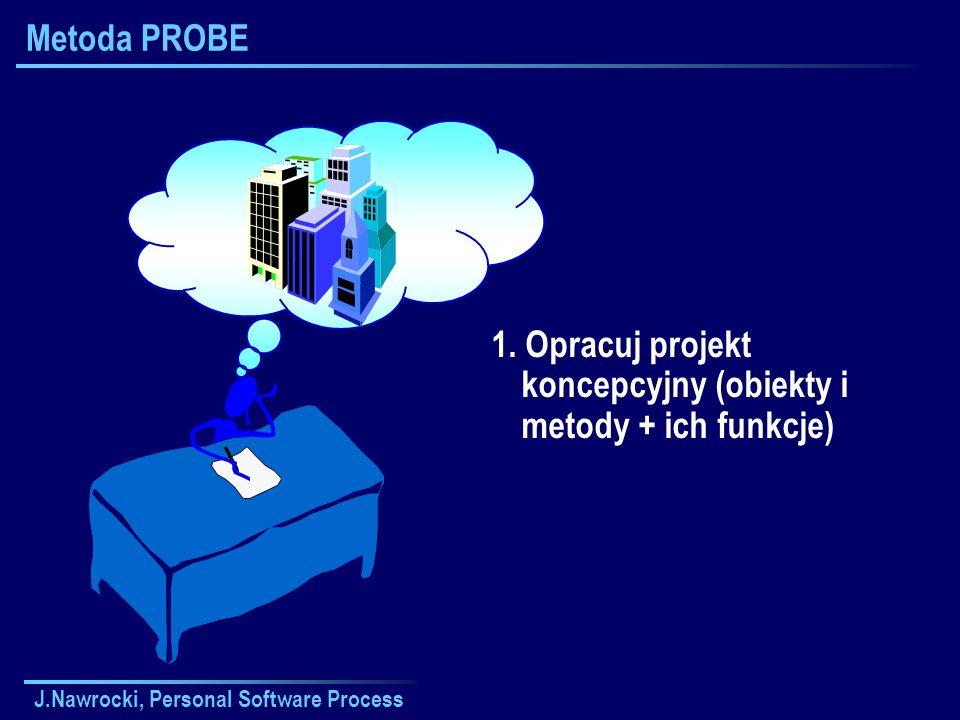 1. Opracuj projekt koncepcyjny (obiekty i metody + ich funkcje)