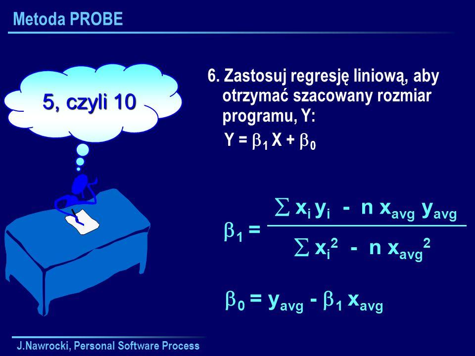  xi yi - n xavg yavg  xi2 - n xavg2 1 = 0 = yavg - 1 xavg
