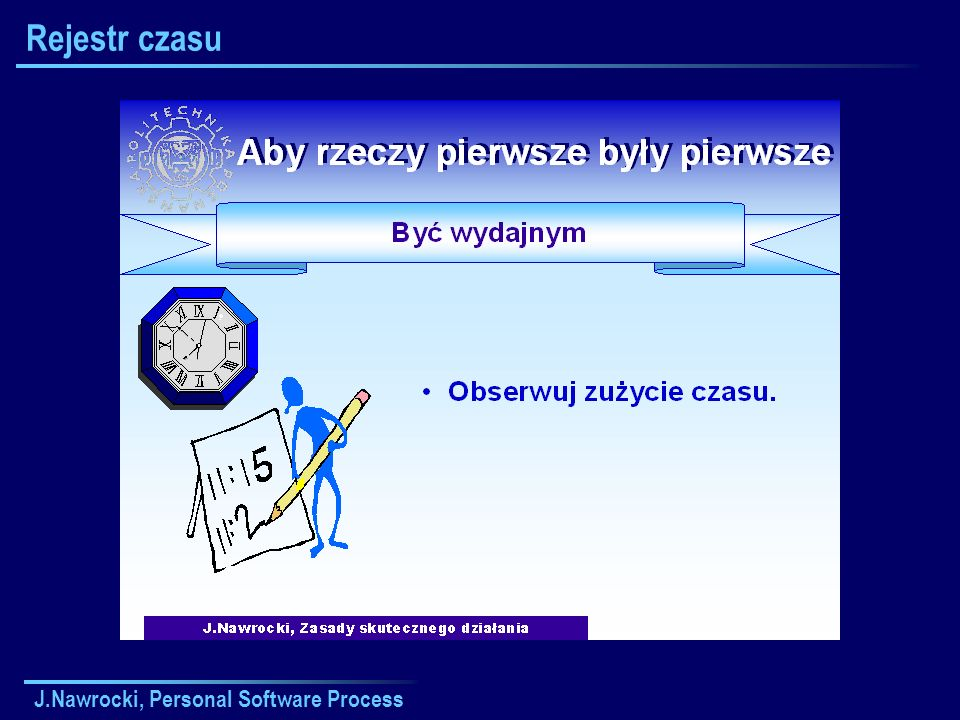 Rejestr czasu J.Nawrocki, Personal Software Process
