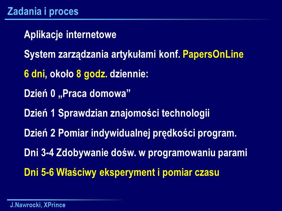 Aplikacje internetowe System zarządzania artykułami konf. PapersOnLine