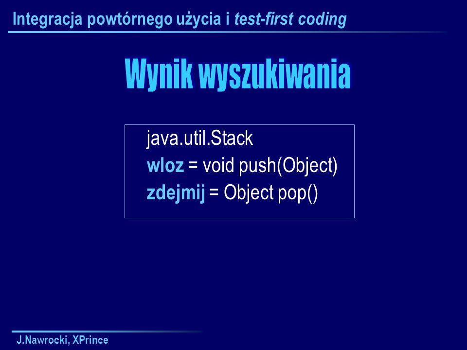 Integracja powtórnego użycia i test-first coding
