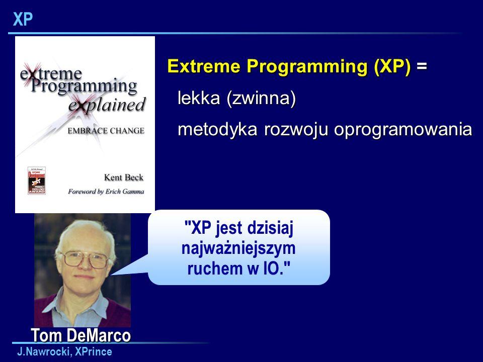XP jest dzisiaj najważniejszym ruchem w IO.