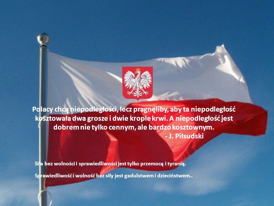 Polacy chcą niepodległości, lecz pragnęliby, aby ta niepodległość kosztowała dwa grosze i dwie krople krwi. A niepodległość jest dobrem nie tylko cennym, ale bardzo kosztownym. - J. Piłsudski