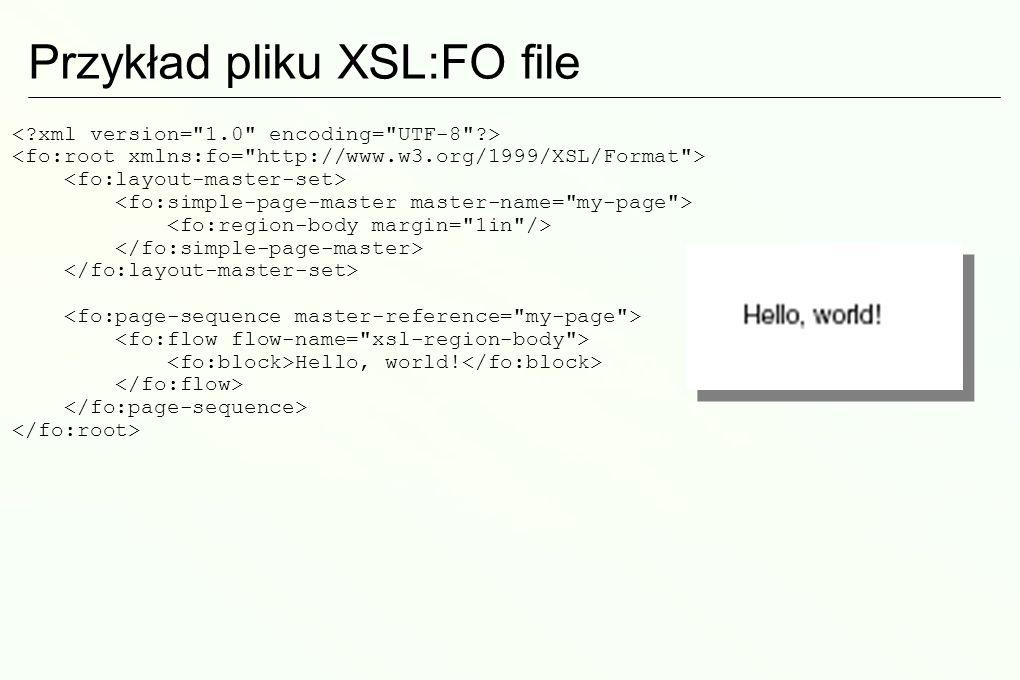 Przykład pliku XSL:FO file
