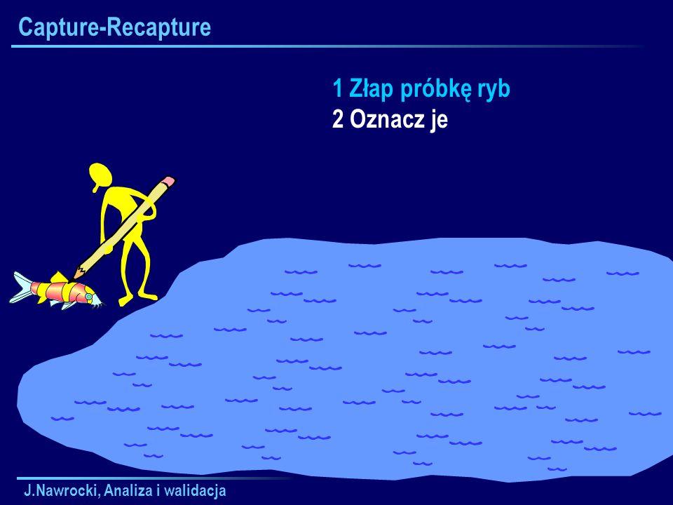 Capture-Recapture 1 Złap próbkę ryb 2 Oznacz je