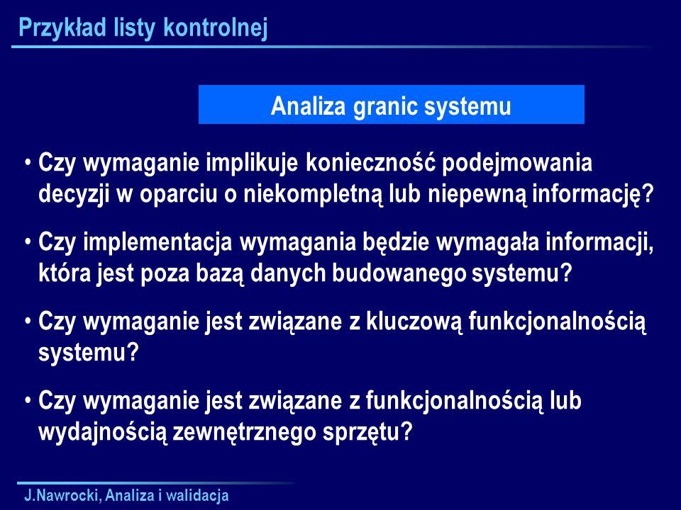 Przykład listy kontrolnej