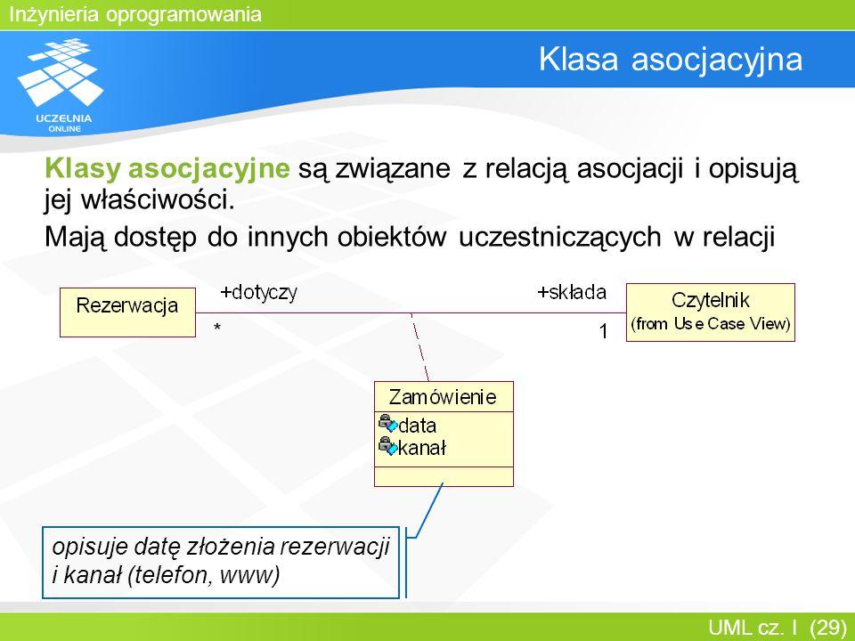 Bartosz Walter Klasa asocjacyjna. Klasy asocjacyjne są związane z relacją asocjacji i opisują jej właściwości.