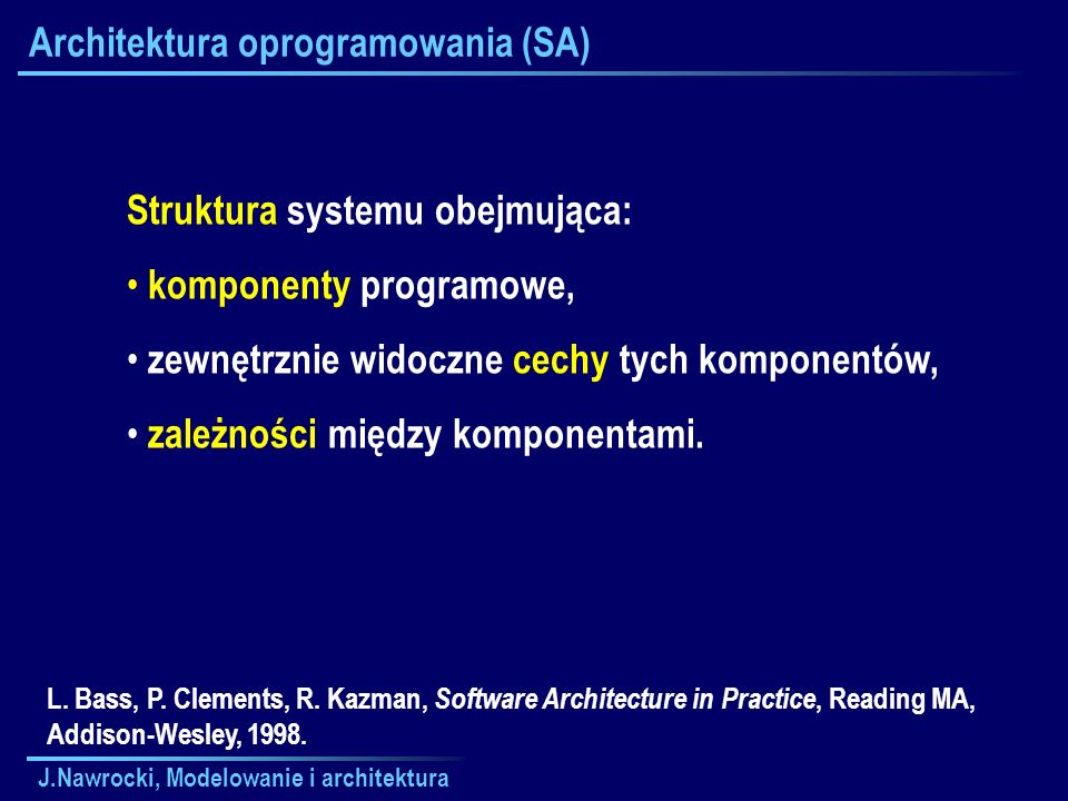 Architektura oprogramowania (SA)