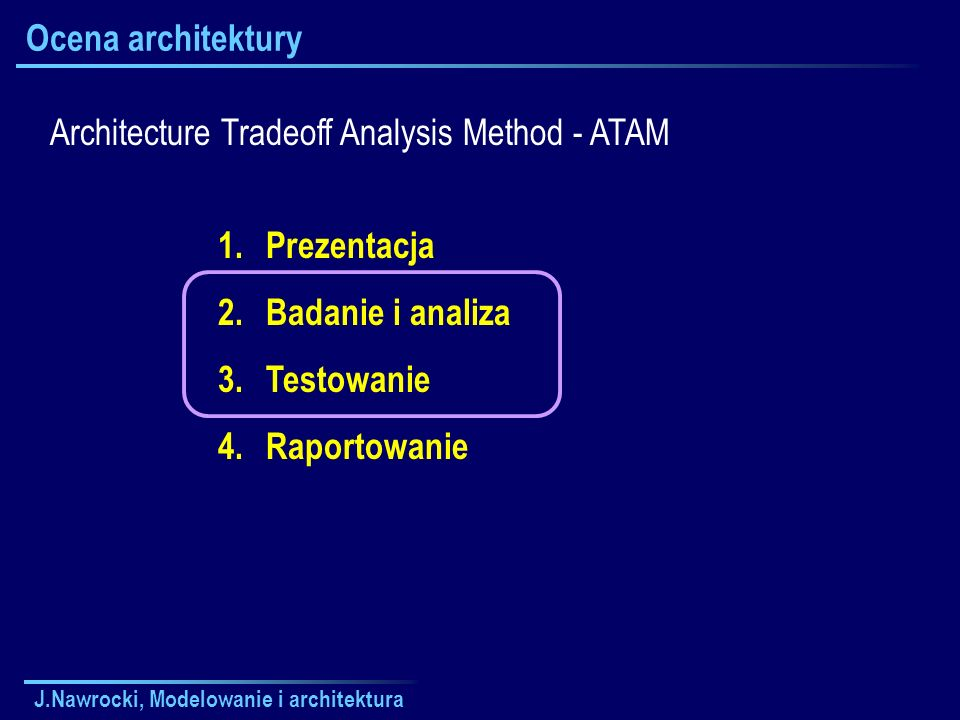 Architecture Tradeoff Analysis Method - ATAM