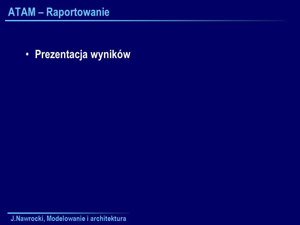 ATAM – Raportowanie Prezentacja wyników