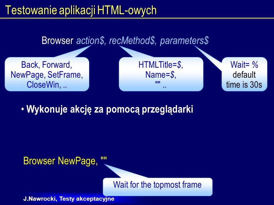 Testowanie aplikacji HTML-owych